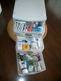 Drawer for tablets, drawer for plasters etc.  great for bathroom