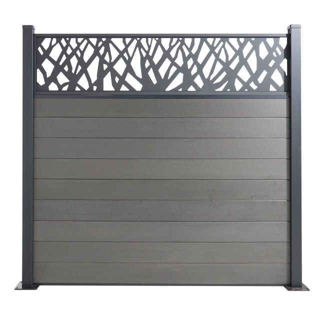 Blooma Decor Naturel En Alu Idaho 177x42cm 94 90 Fence Design Outdoor Wall Panels Garden Gates And Fencing
