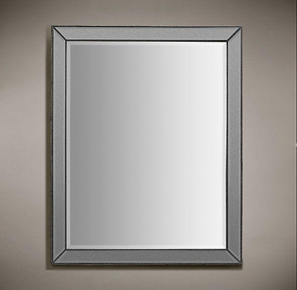 Venetian Beaded Mirror Silver 36 X 48 62 Lbs 545