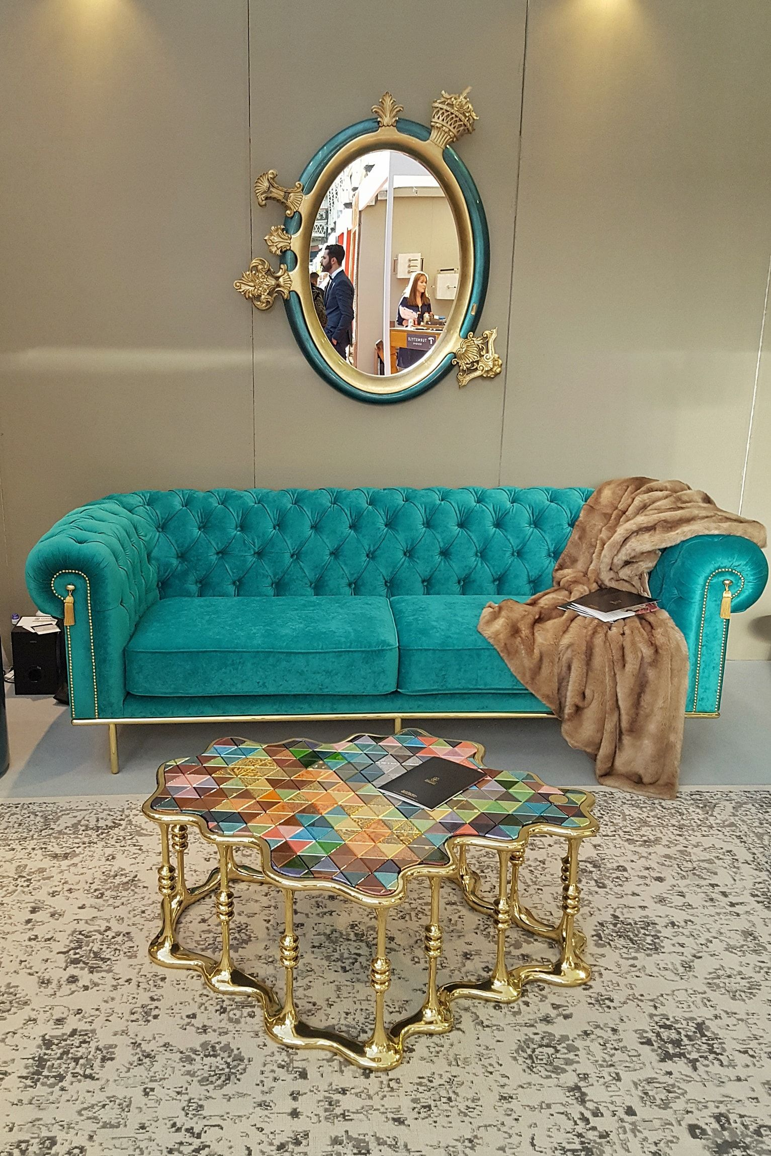"""Luxury from Bessa Design mirror """"Sissi"""" sofa """"Uk"""" and table"""