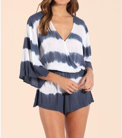 93188ad7a1d3 Romper With Striped Tye Dye  Rompers-by-Elan  rose -romper  summer-rompers