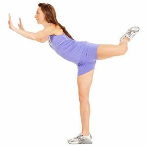 The Wall Kick #exercise works your abs, butt and inner thighs.