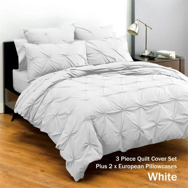 Harvard Polyester Cotton Quilt Cover Set by Apartmento QUEEN KING