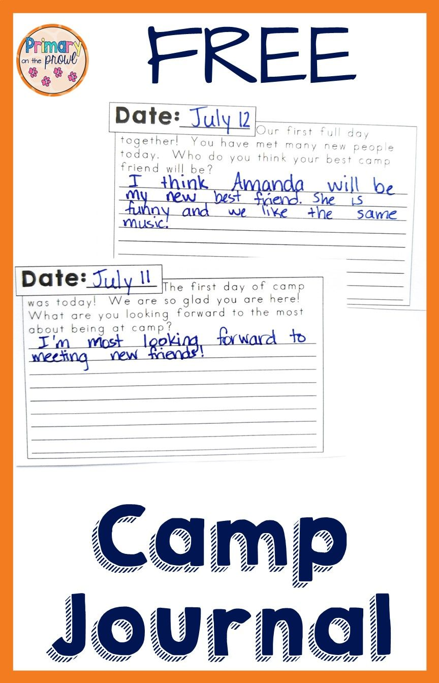 Summer Camp Writing Prompt Freebie  Summer writing prompts