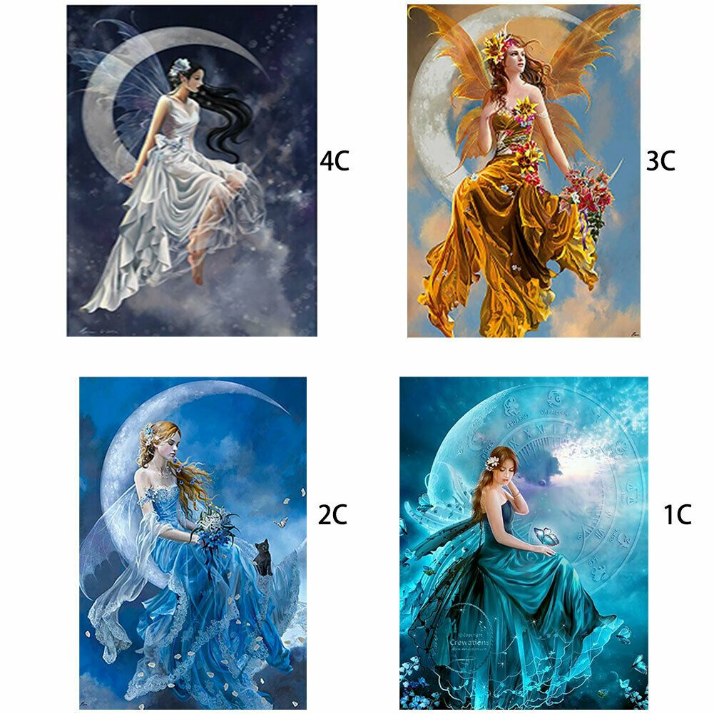 Handmade Special Shape Dress Lady Picture Drill Diamond 5D Part Kit DIY Painting