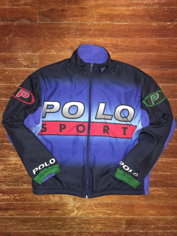 90s VTG Polo Sport Pepsi Ralph Lauren P Wing Stadium