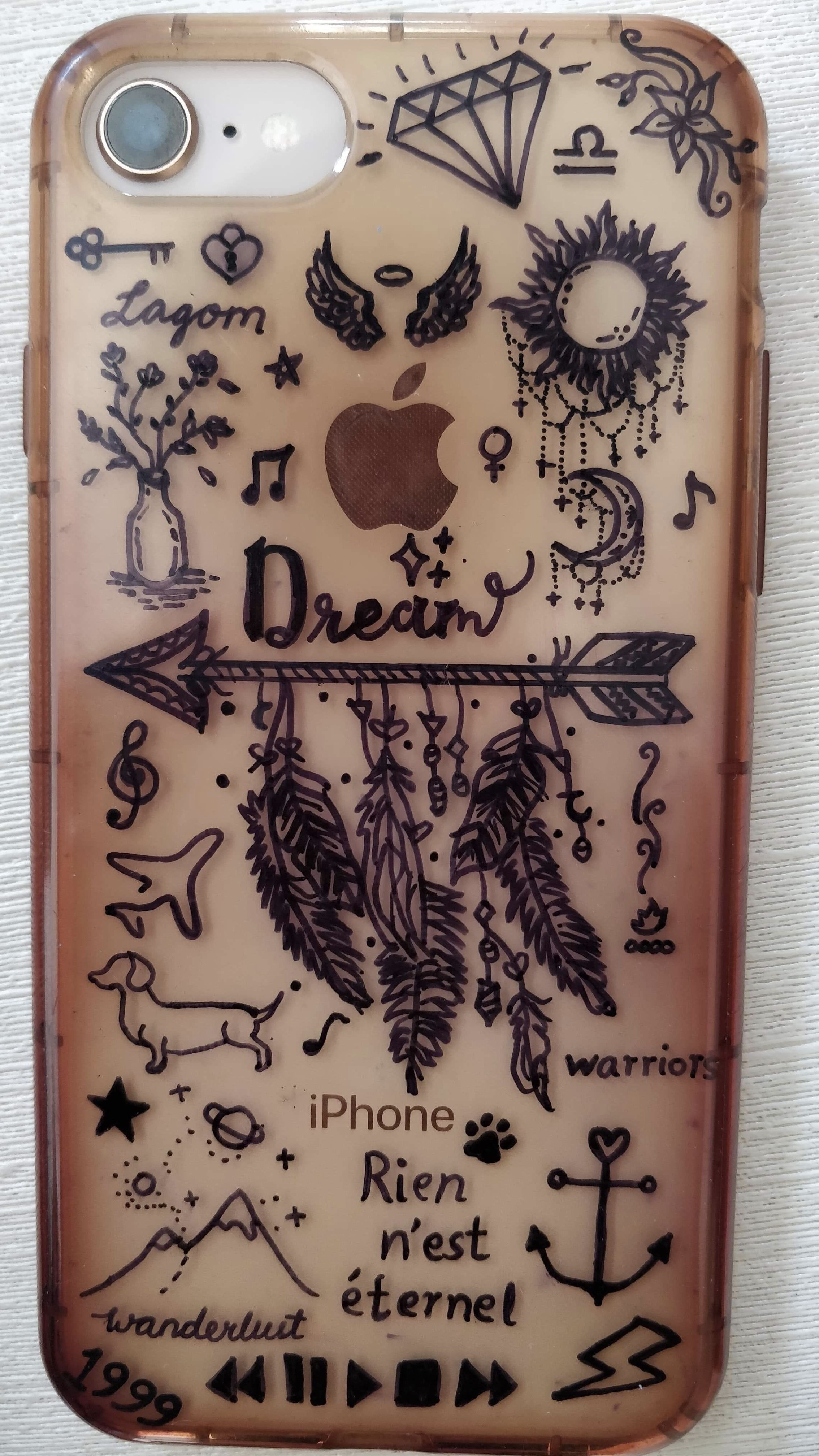 Diy Phone Case Drawing With A Permanent Marker Diy Phone Case