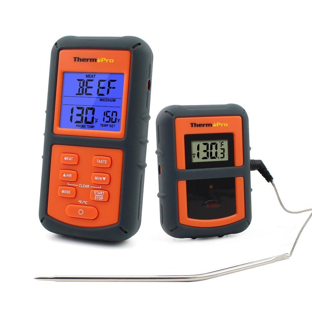 Digital Remote Meat Thermometer for BBQ Grill Kitchen Oven ...