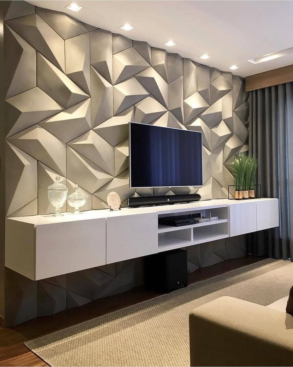 36 Lovely Tile Wall For Living Room Decorations In 2020 Li
