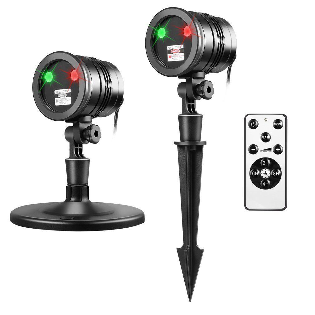 Christmas Projector Lights Green & Red Laser Lights Laser Show Star ...
