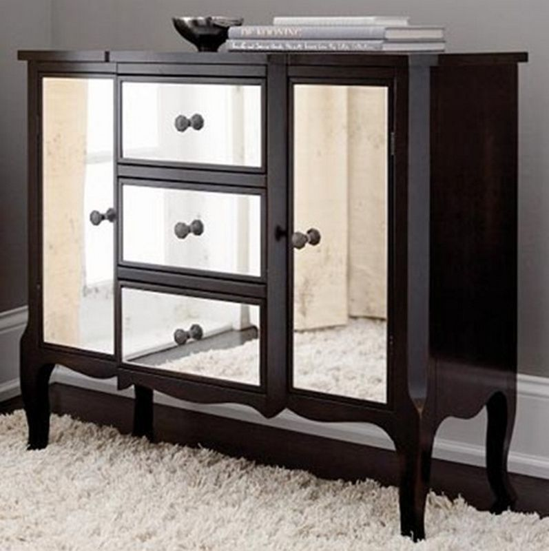 Black Mirrored Dresser Mirrored Bedroom Furniture Mirrored