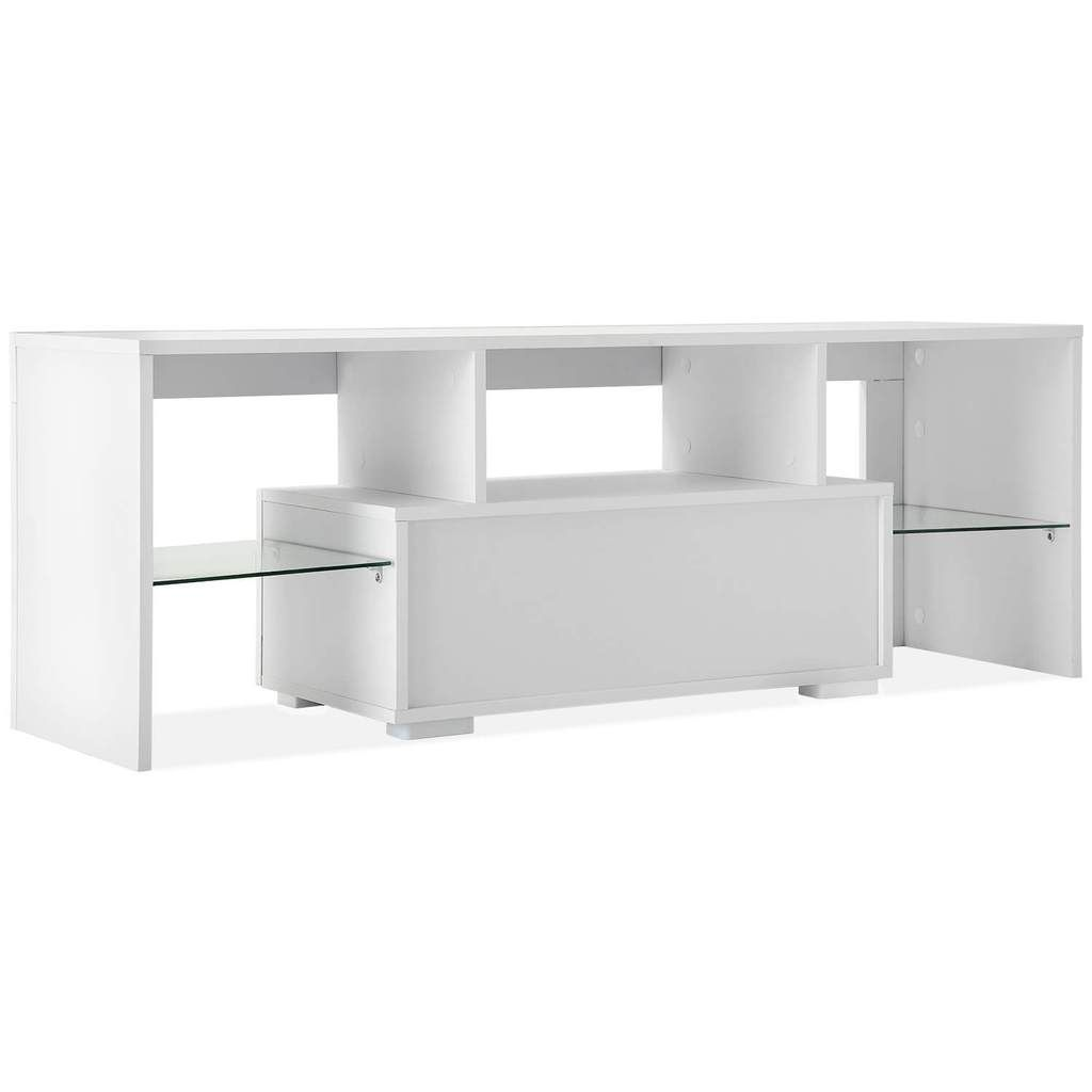 Photo of Modern TV Stand 51 Inch High Gloss LED TV Stand Console Table for Living Room