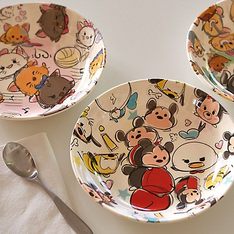 Mickey Mouse And Friends Tsum Tsum Sketch Plate Mickey Mouse