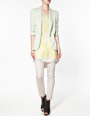 JERSEY BLAZER - Blazers - Woman - New Collection - ZARA United Kingdom - StyleSays