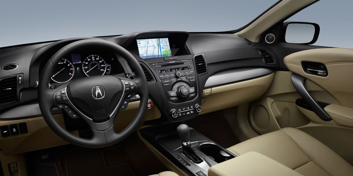 The view from the driver s seat of the 2015 acura rdx with technology package and parchment