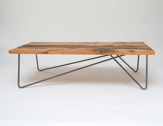 Asymmetrische Haarspeld Poten 4 Been Versie Klein In 2020 Reclaimed Coffee Table Coffee Table Reclaimed Wood Beams