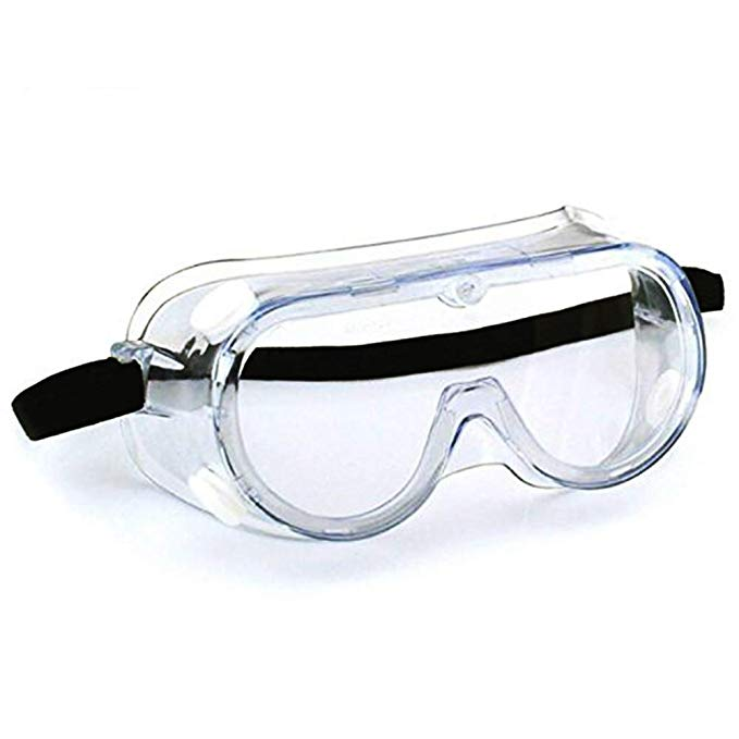 SuperMore AntiFog Protective Safety Goggles Clear Lens