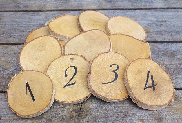 Birkenscheiben Holzscheiben Astscheiben Baumscheiben Tischnummern