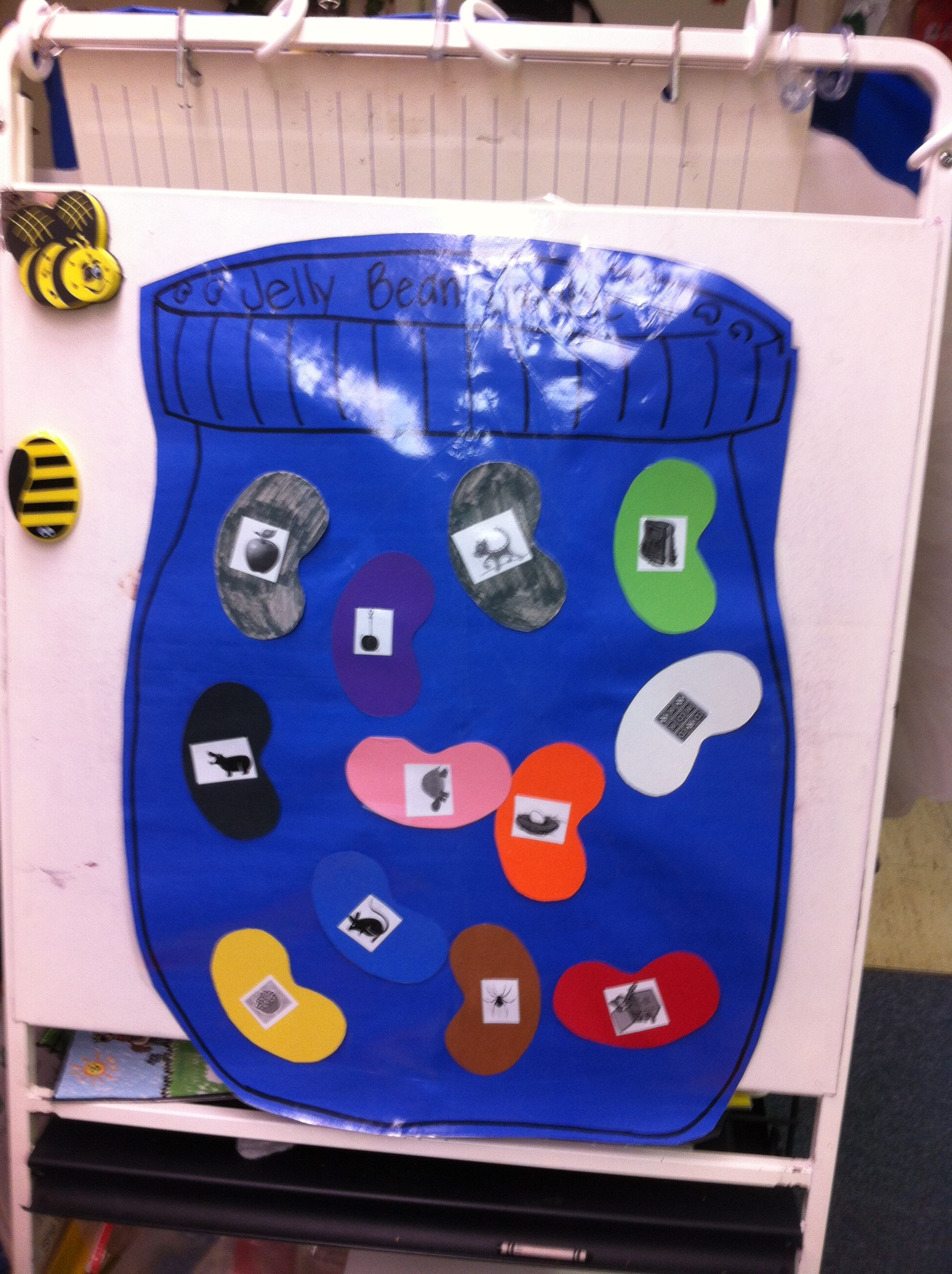 Jelly Bean Jumble Match Jellybeans To Letters By Beginning Sound Of Picture On Jellybean