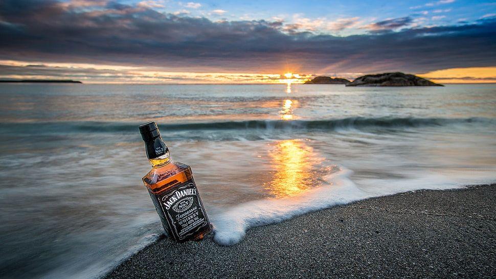 Jack Daniels Whiskey Bottle Nature Landscape Sea Coast Hd Wallpaper Wallpaper Flare Jack Daniels Jack Daniels Wallpaper Jack Daniels Bottle