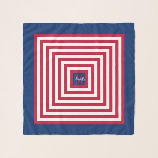 Red White & Blue Square Chiffon Scarf!