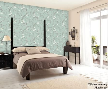 Blossom feature wallpaper Dulux One Day Pinterest Feature