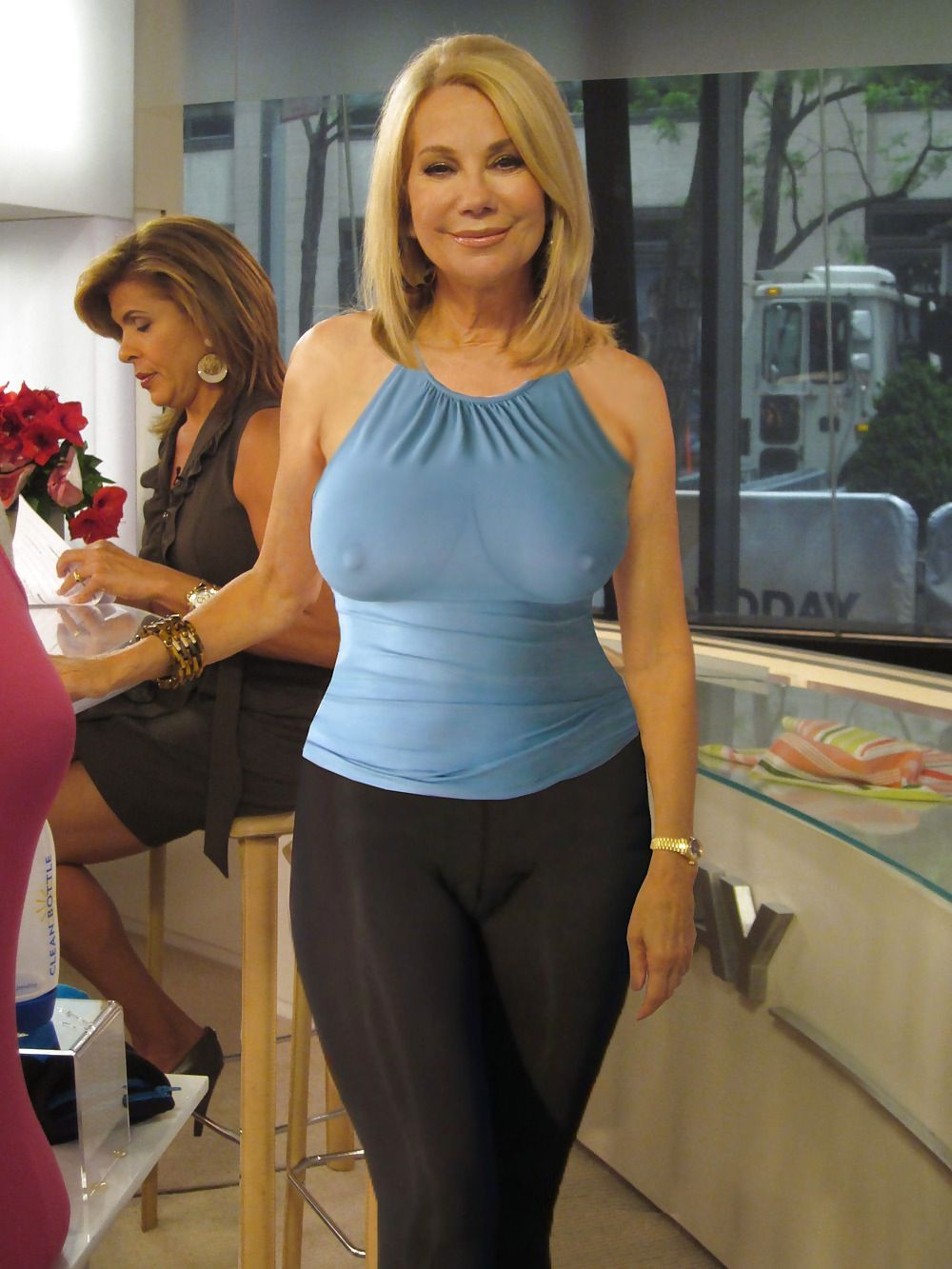 Kathy Lee Gifford - her face is tore up , but look at them ...