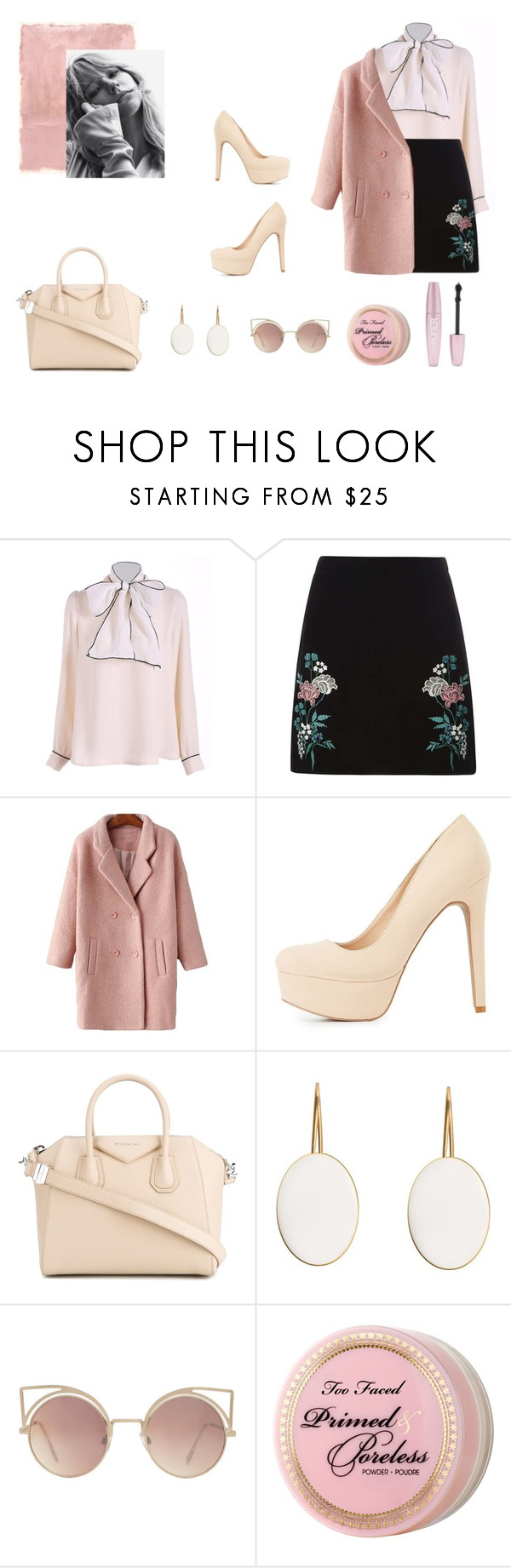 """""""Без названия #34"""" by valentino-lover ❤ liked on Polyvore featuring Rothko, Dorothy Perkins, Charlotte Russe, Givenchy, MANGO, Too Faced Cosmetics and Forever 21"""