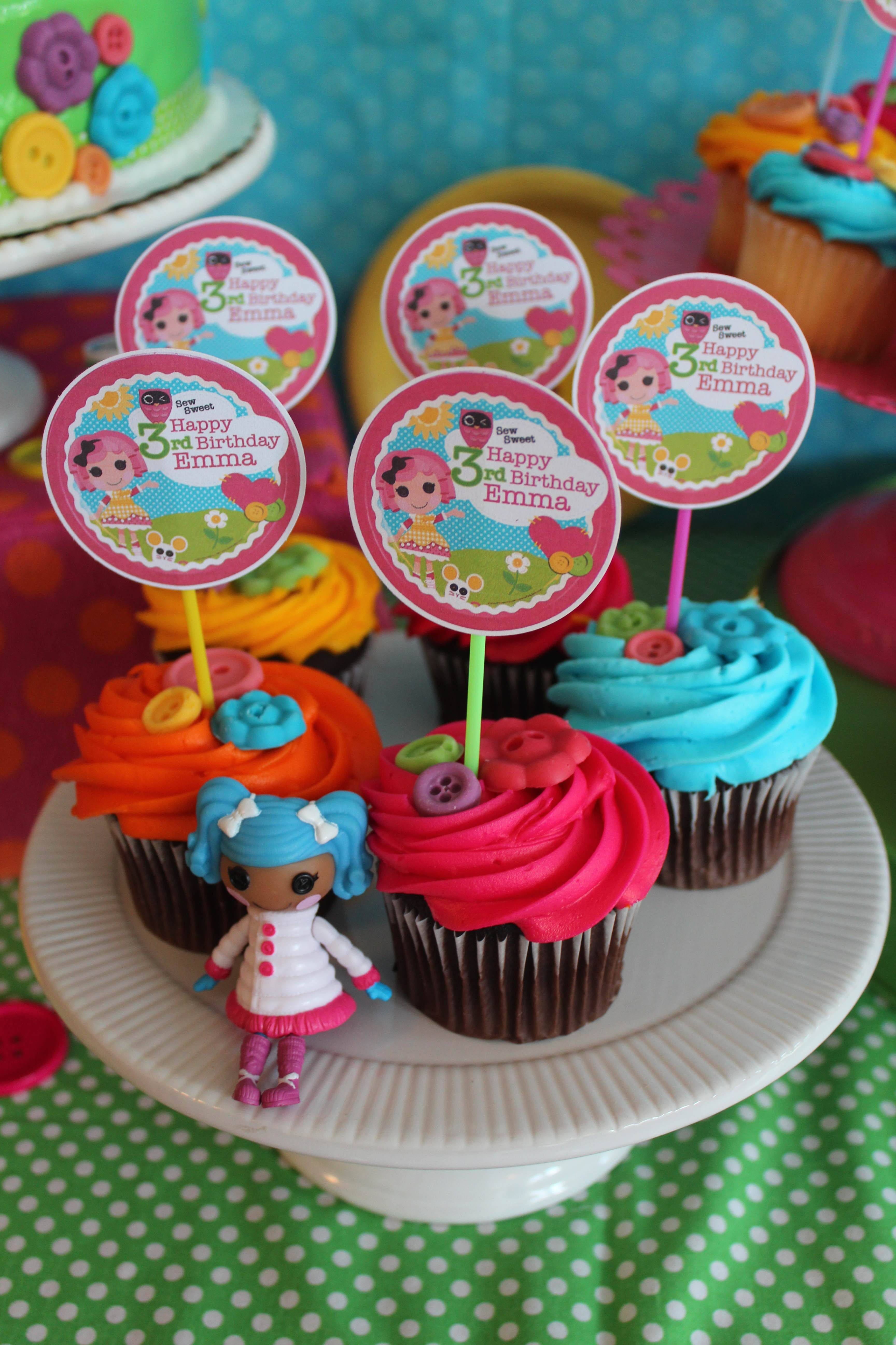 Lalaloopsy cupcakes I like the color one the frosting