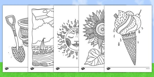Summer Colouring Pictures For Kids Mindfulness Colouring Summer Coloring Pages Mindfulness Colouring Sheets