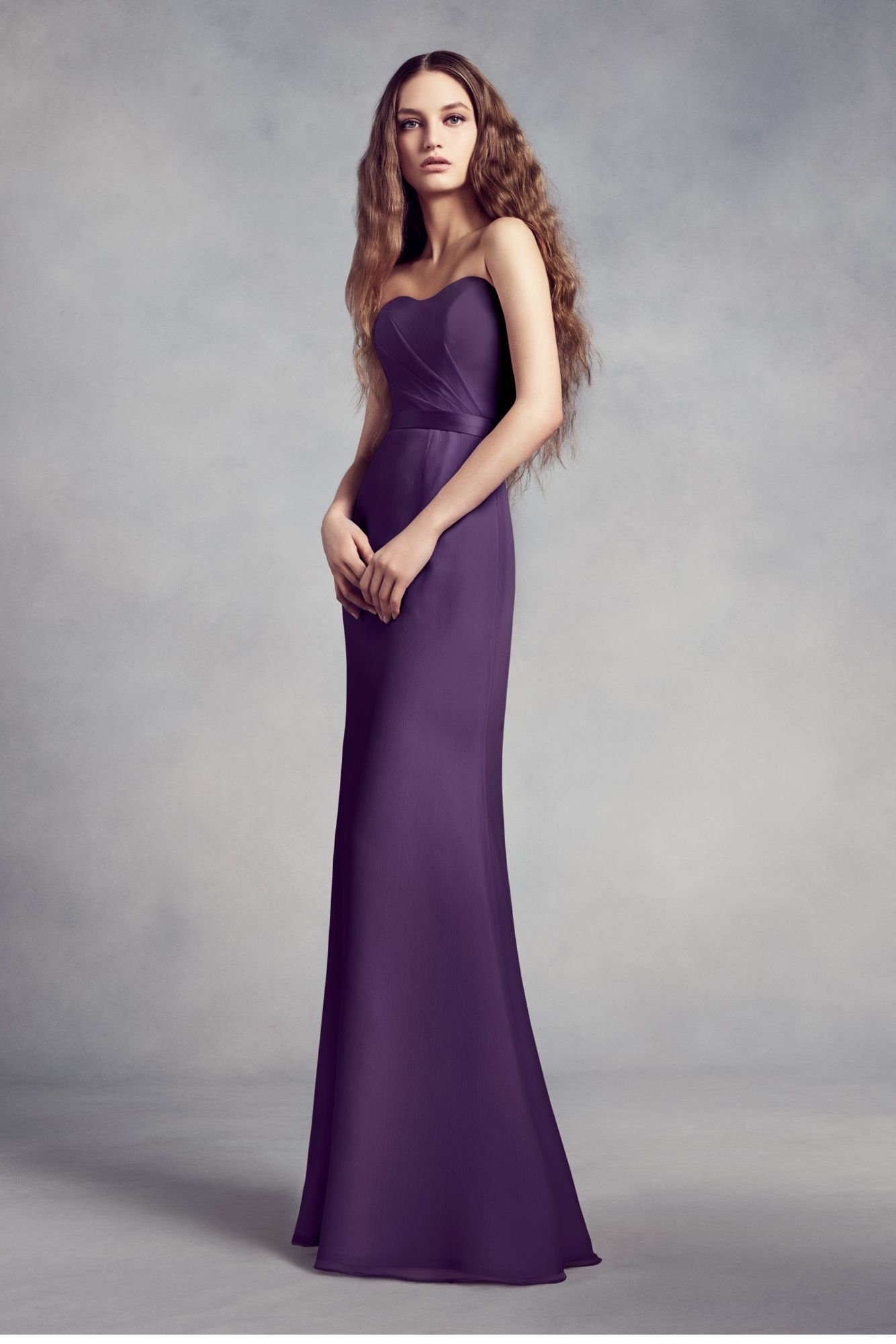 74feb0c3fe8 Strapless Sweetheart Neckline Long Fitted VW360352 Style Bridesmaid Dress  with Lace Back and Insert