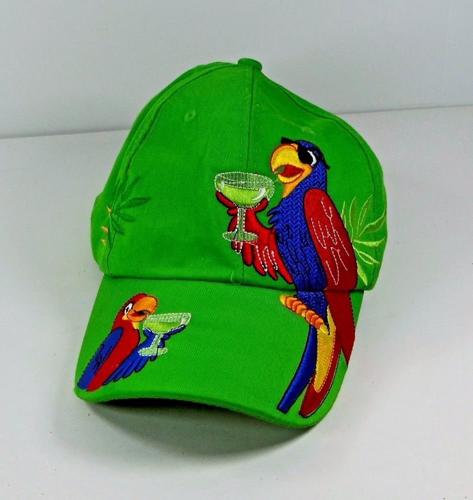the best attitude 55bc3 a6435 ... inexpensive jimmy buffet margaritaville parrots green adjustable  baseball hat cap margaritaville baseballcap a02e1 f18fa