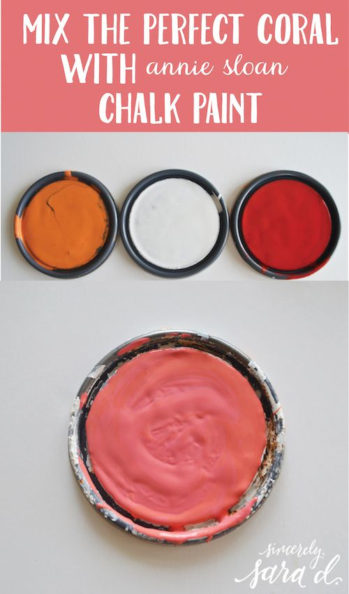 Mixing The Perfect Coral With Chalk Paint Diy Home Decor Chalk