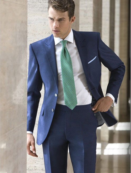 Blue suit. Essential piece in men's stylish wardrobe. http://www ...