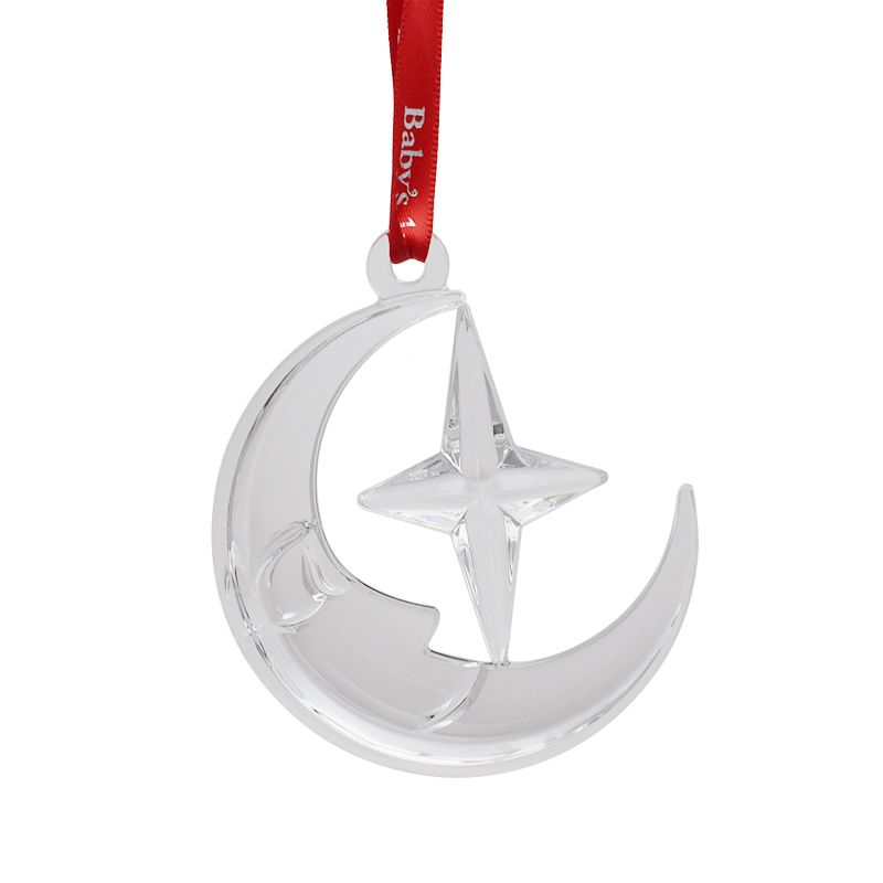 2017 Baby's First Christmas, Moon and Star | Orrefors Christmas Tree  Decoration | Baby gift - Orrefors Baby's First Christmas, Moon And Star 2017Crystal Christmas