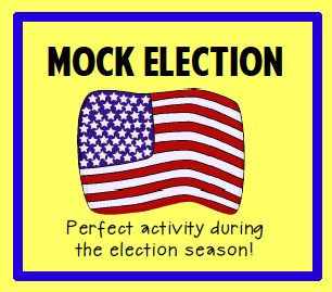 mock election teach your students about the presidential election process - Living Room Candidate Lesson Plan