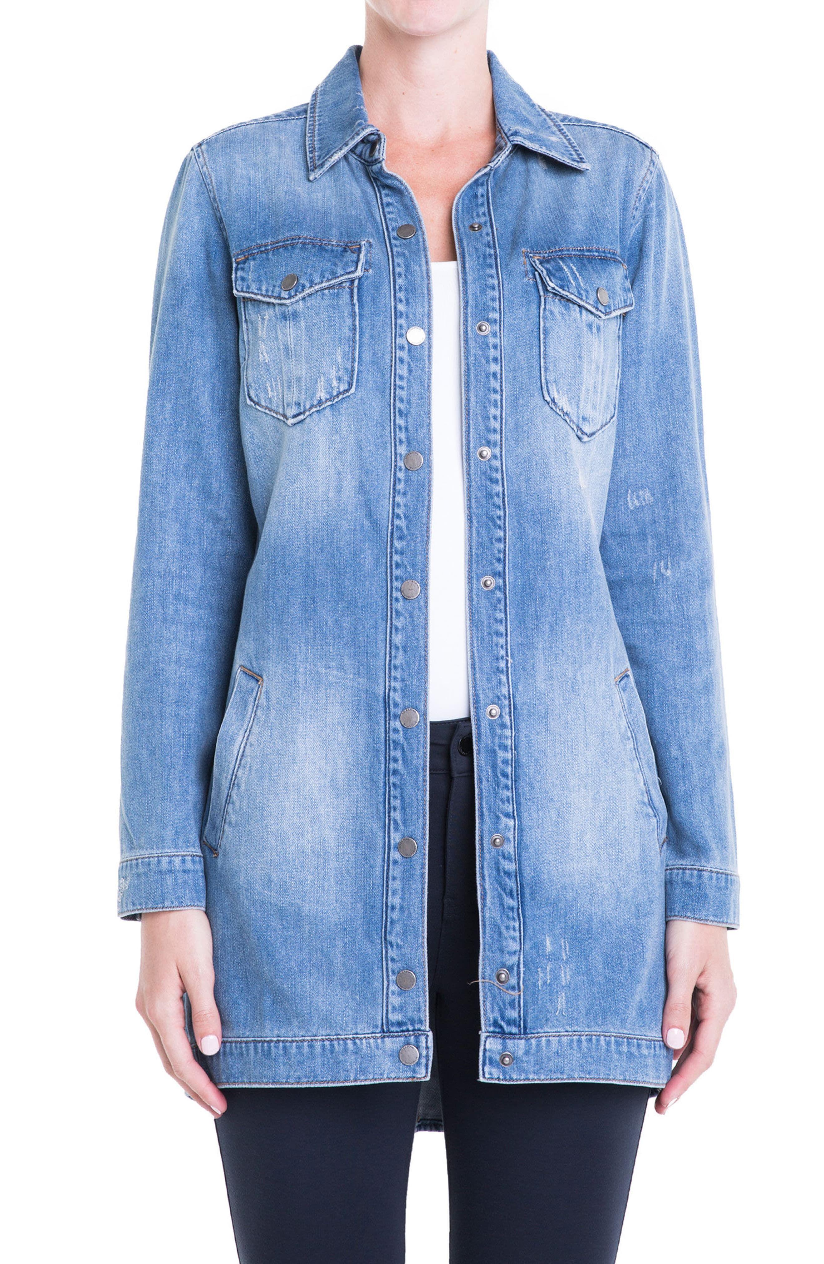 Liverpool Long Denim Jacket Nordstrom Long Denim Jacket Denim Jacket Lined Denim Jacket [ 4048 x 2640 Pixel ]