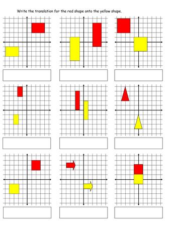 worksheet 2 - translations.doc | Játékos matematika | Pinterest ...