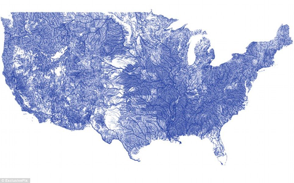 Maps Reveal Everything From Longest Sailing Line To Price Of Big - Longest river in the us map