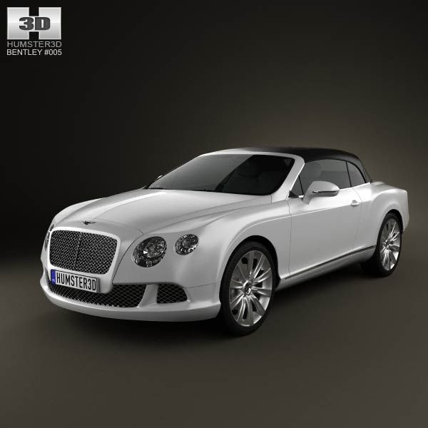 Bentley Continental GT Convertible 2012 3d Model From