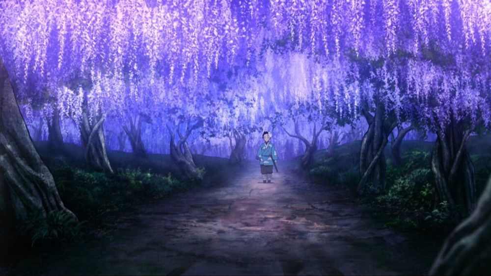 Spatial on Twitter Anime scenery, Anime places, Wisteria