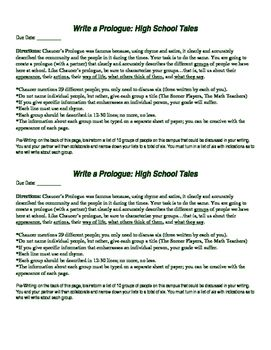 Satire Writing Assignment For The Canterbury Tales Write Your Own