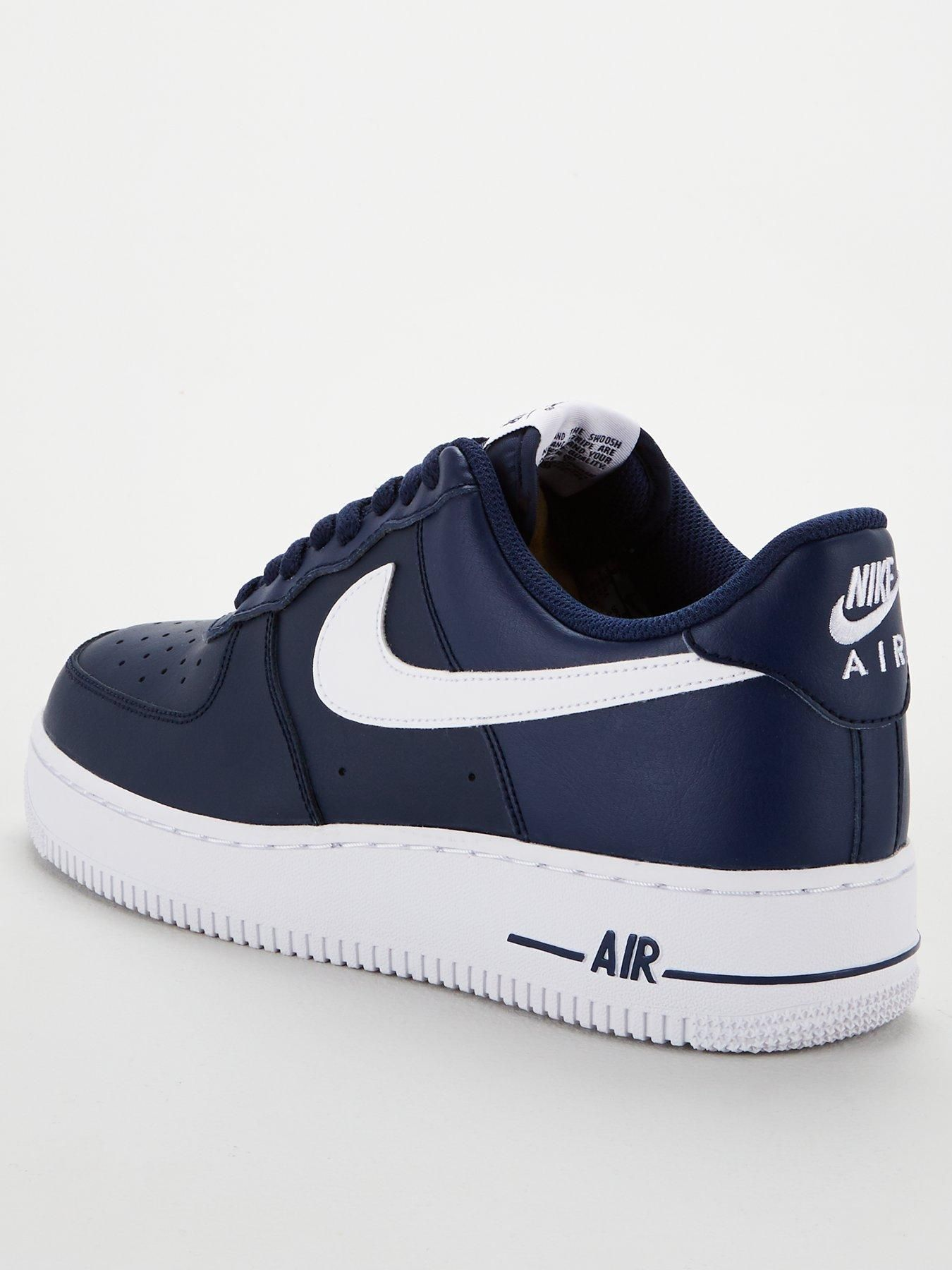 Nike Air Force 1 '07 AN20 - Navy/White in 2020 (With images ...