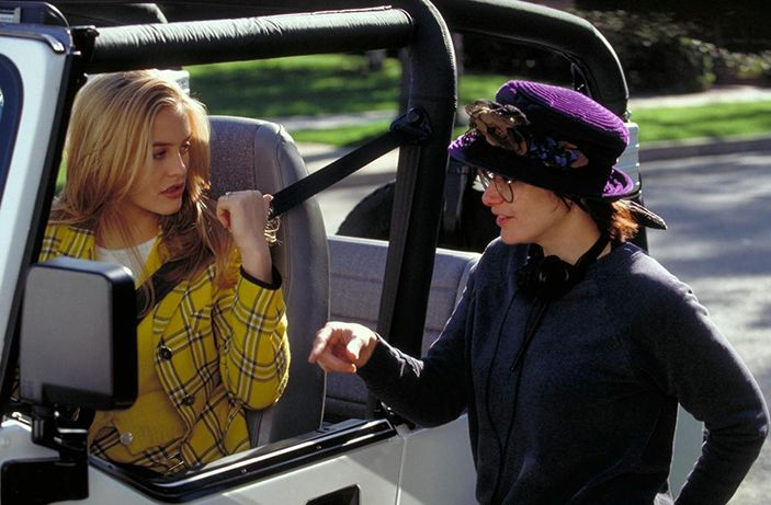 New Pix (BTS -   alicia silverstone and amy heckerling on set) has been published on Tremendous Pix