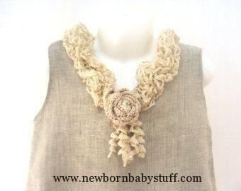 Crochet Baby Dress Crochet Baby Dress Summer baby dress Organic Hand Crocheted ...