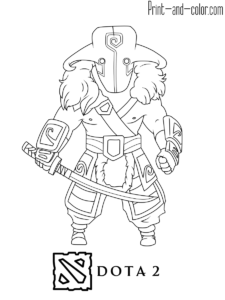 Dota 2 Coloring Pages Dota 2 Nerd Culture