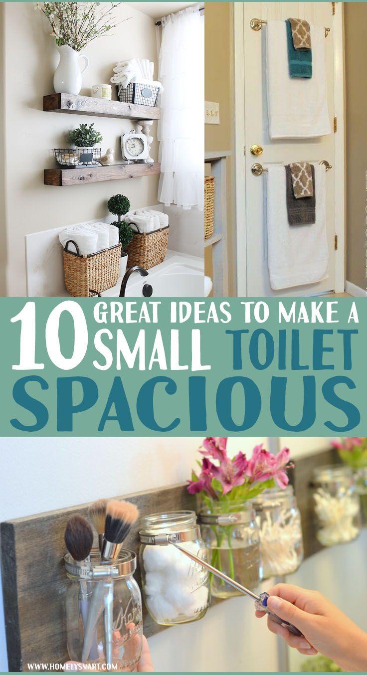 How To Make A Small Apartment Bathroom Look Bigger Homelysmart Inside Diy Bathroom Organization Diy Small Apartment Bathroom