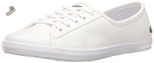 3f9df9d2d5541 Lacoste Women's Ziane Bl 1 Shoe, White, 7.5 M US - Lacoste sneakers ...