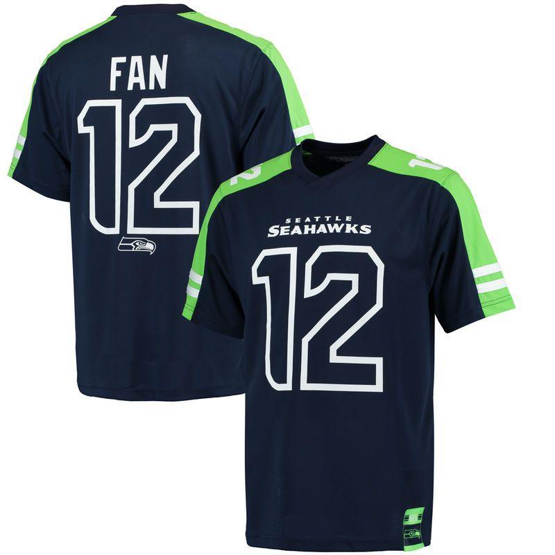 Seattle Seahawks NFL Fan Shirt Wordmark Logo navy