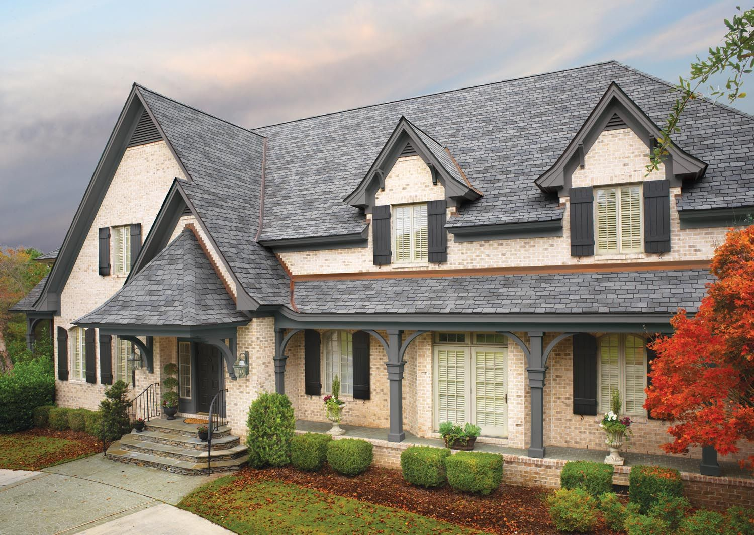 Best Gaf Woodland Castlewood In Gray Roofing Shingles 400 x 300
